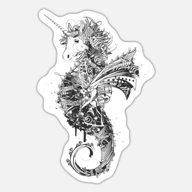Mythical Collection V2 Unicorn seahorse - Sticker