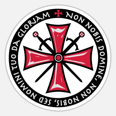 TemplerKreuz Non Nobis Domine Crusaders Cross - Sticker