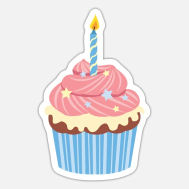 Birthday Birthday Cupcake - Sticker