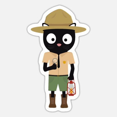 Uniform Park Ranger cat with uniform - Sticker