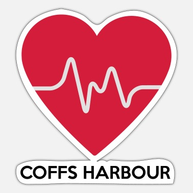 Harbour Heart Coffs Harbour - Sticker