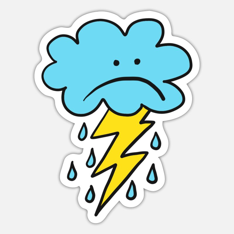 Regenbogen-Clipart Wetter Clip Art Regenbogen Wolken Regen   Etsy