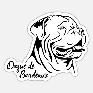 Dogue De Bordeaux DOGUE DE BORDEAUX Dog Wilsigns - Sticker