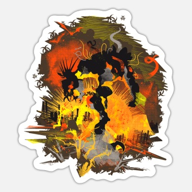 Mythical Collection V2 Biohazard Monster Nuclear - Sticker