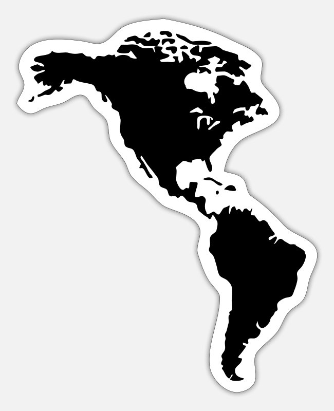 South America Stickers - America - Sticker white matte