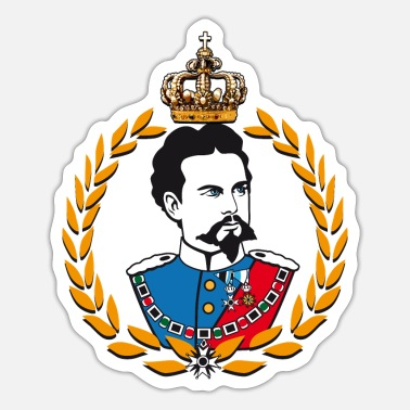 Ludwig Ludwig of Bavaria - laurels and crown - Sticker