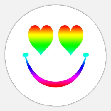 Rainbow Smiley 5 - Sticker
