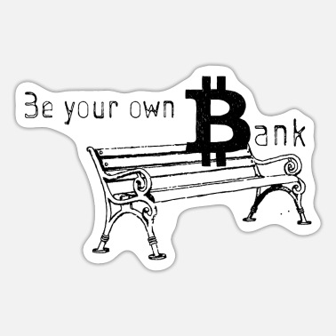 Bank-to-sit Bitcoin-bank - Sticker