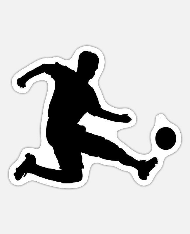 Soccer Player Stickers - Soccer player - Sticker white mat