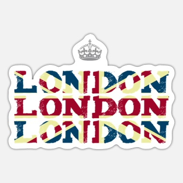 Sex Pistols London Union Jack Brexit Crown Queen Trip - Sticker