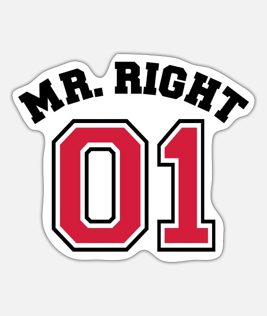 Lebensabschnittsgefährte Stickers - Mr. Right 01 - Sticker mat wit