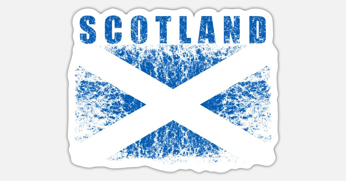 4 X Pegatinas de vinilo brillante Escocia Escocés Bandera Pequeña Bicicleta Auto Bandera Redondo 64