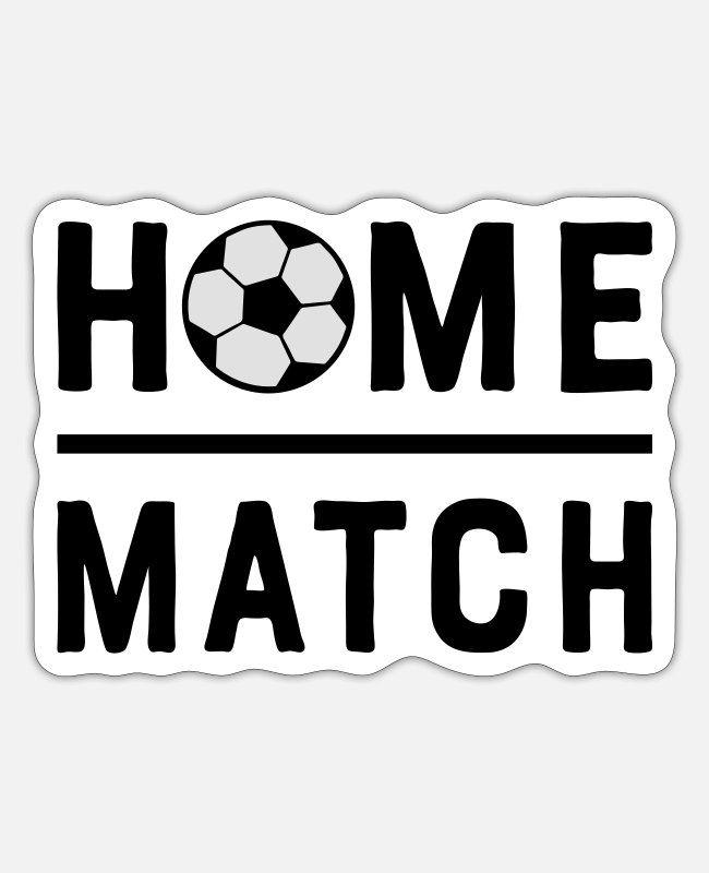 National Team Stickers - Soccer Match Home Match Soccer Soccer 2c - Sticker white mat