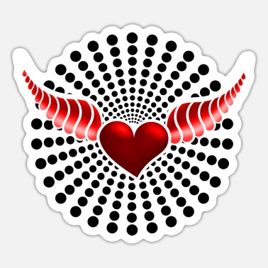 Heart With Wings Heart with wings red - Sticker