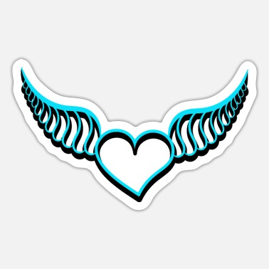 Heart With Wings Heart with wings - Sticker