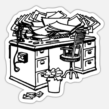 Desk writing desk - Sticker