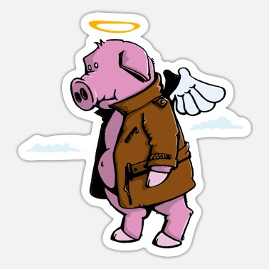 Piggy goes to Heaven - Sticker