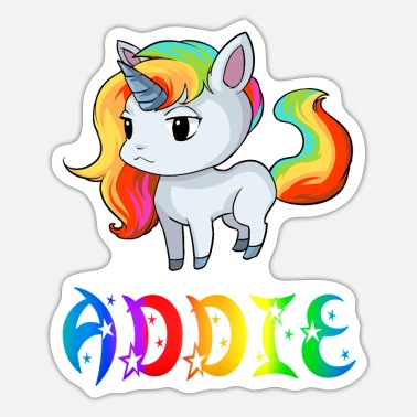 Addio Einhorn Addie - Pegatina