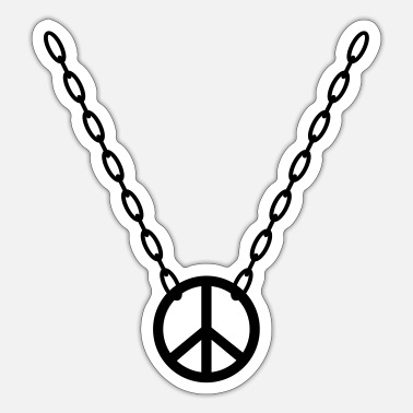 Chain with Peace Symbol - Sticker
