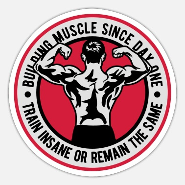 Body Building 2541614 135257576 Body Building - Sticker