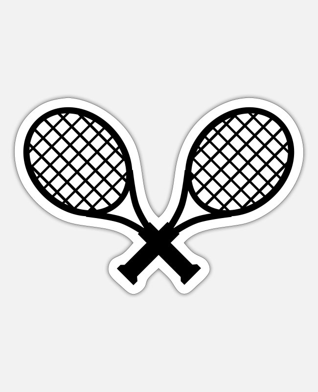 Tennis Stickers - Tennis / tennis rackets - Sticker white mat