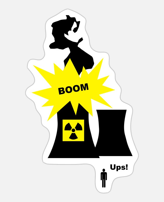Chernobyl Stickers - Nuclear Energy - Sticker white mat