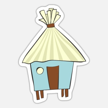Hut beach hut - Sticker