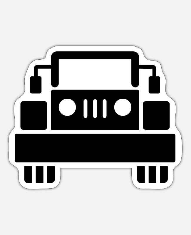Vehicle Stickers - Jeep - SUV - Sticker white matte