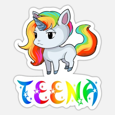 Teen Unicorn Teena - Klistermärke