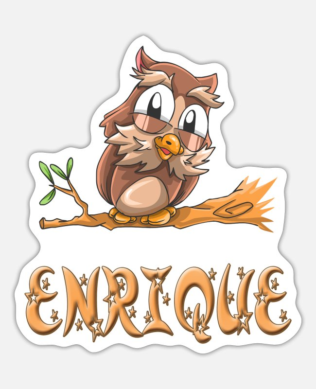 Enrique Uil Stickers - Owl Enrique - Sticker mat wit