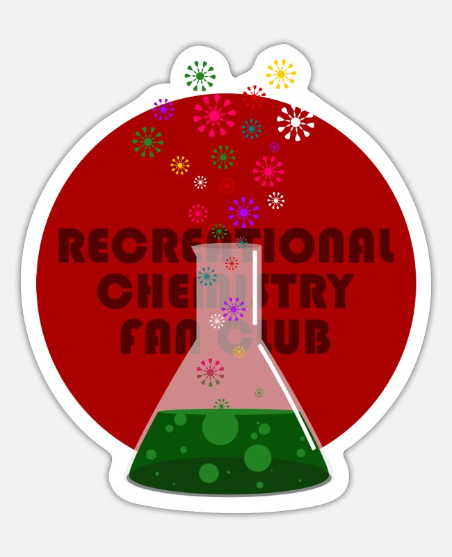 Magic Potion Stickers - Recreational Chemistry Fan Club (red) - Sticker white mat