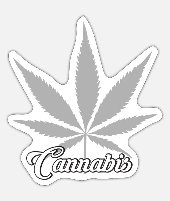 Vakantie Stickers - Cannabis Cannabis Leaf - Sticker mat wit