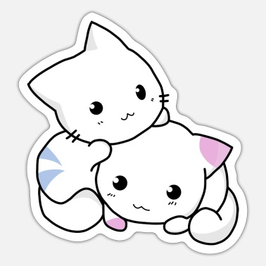 Cats And Dogs Collection cat, kitten, cute - Sticker