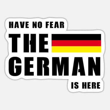 Germans The German - Sticker