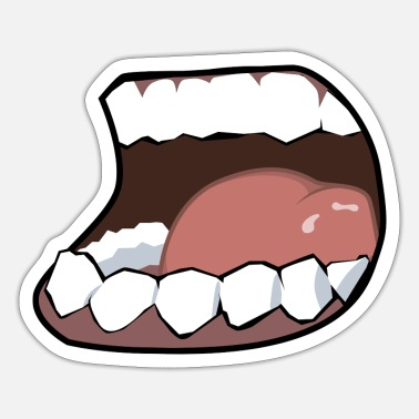 Mouth Hunger, mouth, mouth - Sticker