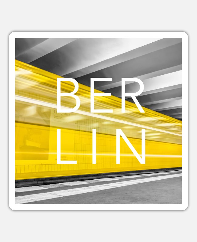 Urban Stickers - Berlin Underground - Sticker white mat