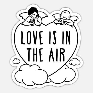 Valentinstag - love is in the air 1c - Sticker