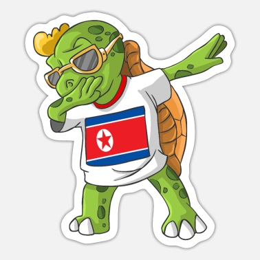 North Korea Dabbing turtle - Sticker