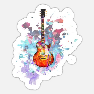 Guitar Les Paul Guitar Splash - Sticker