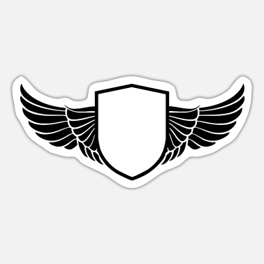 Shield wings shield - Sticker