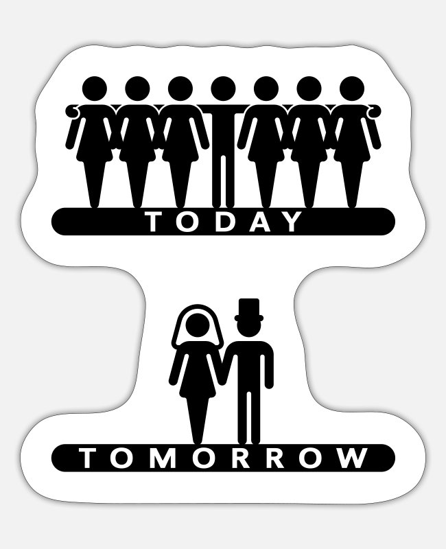 Stag Stickers - Today - Tomorrow (Stag / Stag - Sticker white mat