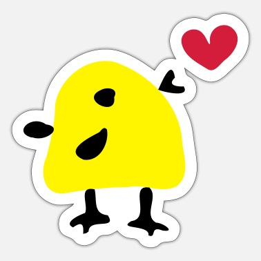 Vector Underwear Cute yellow bird - Sticker