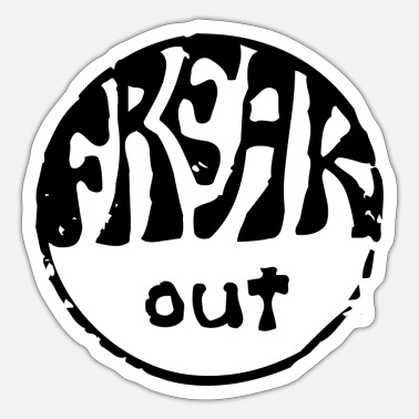 Freak out hippie stamp - Pegatina