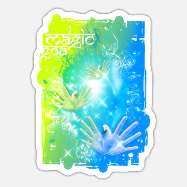 India Goa Trance MAGIC GOA - Sticker
