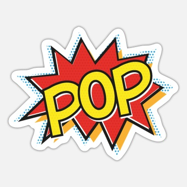 Pop Art POP - pop art, comic, yellow - Sticker