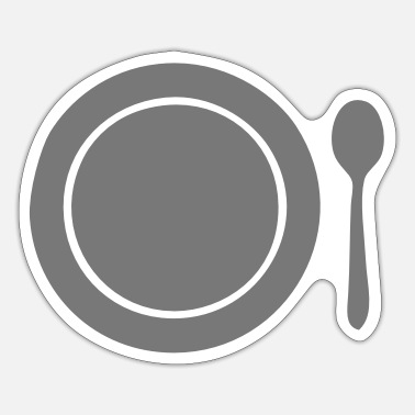 Plate plate spoon plate spoon1 - Sticker