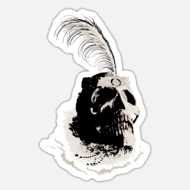 Vintagecontest Skull vintage - very old Charleston Lady 20s - Sticker