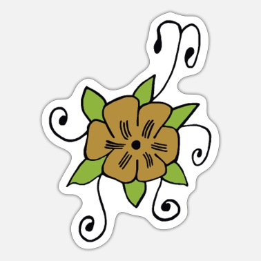 Vintagecontest Vintage flower - Sticker