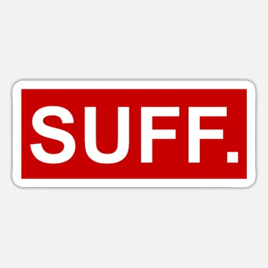 Suff cool SUFF red-white - Sticker