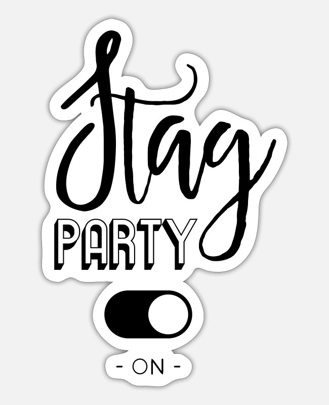 Engagement Stickers - Stag party - Sticker white mat